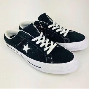 Converse One Star Mule 9.5 Black White Sneaker New